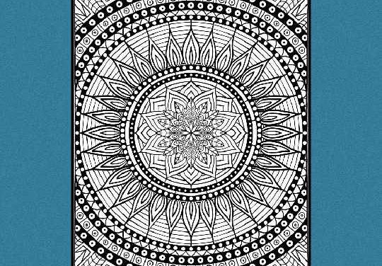 10 forskellige Mandalas –   Print-selv malebog