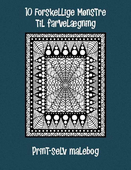 89e58346 10 forskellige Mønstre - Print-selv malebog - TangCo